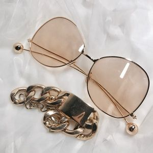 super chic fashion sexy brown clear glass